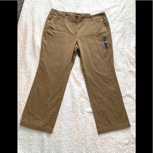 NWT French Walnut Tan Straight Leg Pants Sz 14-16